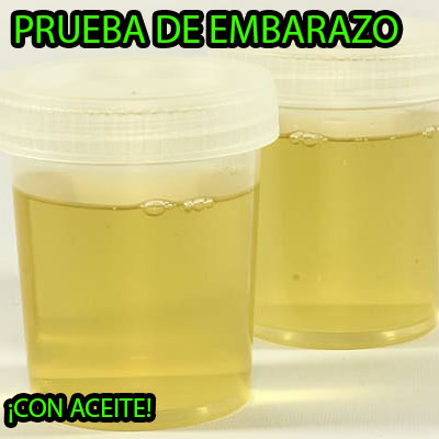 test de embarazo con aceite